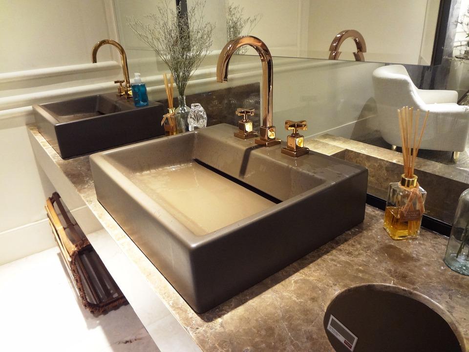lavabo de cemento
