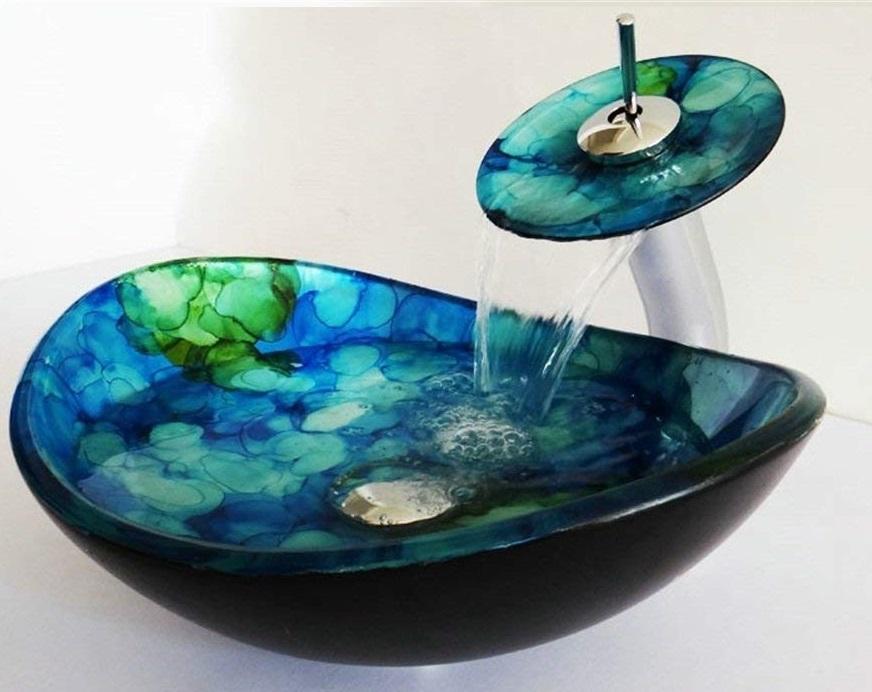 lavabo de vidrio